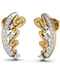 Diamoire Jewels 18kt Yellow Gold Earrings With Pear Cut Rubies and Round Shape Diamonds VhFIU1xzE