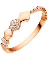 Akillis - Python Rose Gold Half Set Diamond Bracelet - Lyst