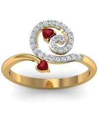 Diamoire Jewels 18kt Yellow Gold Pave 0.04ct Diamond Infinity Ring II - UK G 1/4 - US 3 1/2 - EU 45 3/4 PQ3Q9eDkv