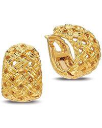 Gemlok for Gemveto - Corbeille Gold Button Earring - Lyst