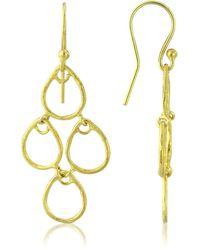 Auree Yellow Gold Plated Palermo Art Deco Earrings - Metallic