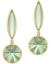 Rose Carvalho Kaleidoscope Long Navette Pr Earrings - Metallic