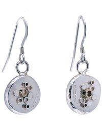 Hannah Silversmith - Geode Crystal Earrings In 9kt Gold - Lyst