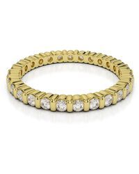 AG & Sons 18kt Yellow Gold Full Eternity Ring With Round-cut, Bar-set Diamonds I - Metallic