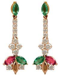 Joana Salazar Delicate Sparkling Earrings - Multicolour