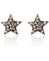 LÁTELITA London - Diamond Star Stud Earring Rose Gold - Lyst