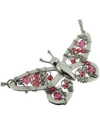Rachel Helen Designs - Sterling Silver Butterfly Necklace - Lyst