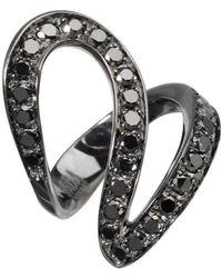 Dada Arrigoni Jewelry - Small Ivy Black Gold Ring - Lyst