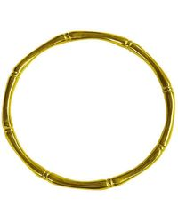 Murkani Jewellery - Gold Bamboo Round Bangle | - Lyst