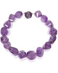 Mara Hotung - Amethyst & Purple Bead Necklace 18kt Black Gold - Lyst