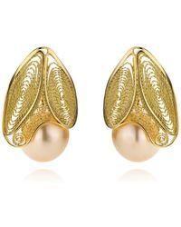 AMMA Jewelry   Filigree Earrings White Butterfly   Lyst