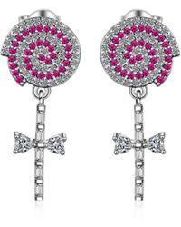 37ad1d3be Swarovski Lollipop Chain Pierced Earrings (white) Earring in White ...