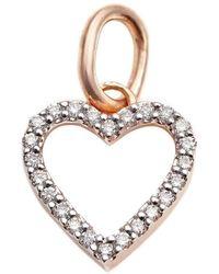 Kaizarin Diamond Studded My Heart Pendant Yellow Gold