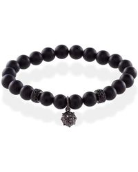 MARCOS DE ANDRADE - Spike Onyx Bracelet With Titanium Black - Lyst