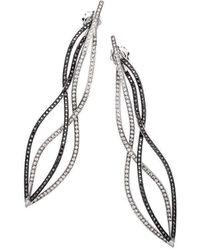 Alexandra Itouna Black And White Waves Earrings