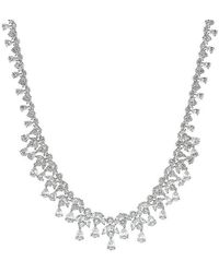 CZ by Kenneth Jay Lane - Pear And Tear Drop Cz Necklace - Lyst