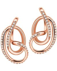 Fei Liu - 18kt Rose Gold Plated Serenity Stud Earrings - Lyst