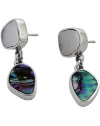 Jan D - Earrings With Mother Of Pearl And Abalone - Lyst