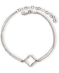 Maviada - Bodrum Rhodium Plated Sterling Silver Bracelet Small - Lyst