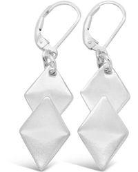 Designs by JAK - Desire Silver Diamond Earrings - Lyst