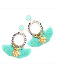Clare Hynes   Turquoise Martha Tassel Earrings   Lyst