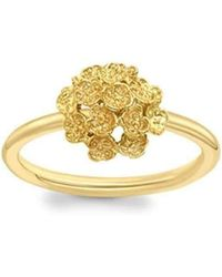 London Road Jewellery - Kew Yellow Gold Posy Cluster Ring - Lyst