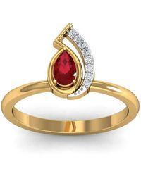 Diamoire Jewels Elegant Diamond Ring in 18kt Rose Gold NaHPT4G