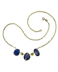 Xanthe Marina - 18kt Gold Lapis Necklace - Lyst