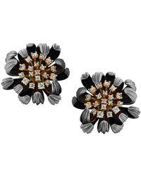 Chekotin Jewellery - Gold & Diamond Astra Eden Earrings   - Lyst