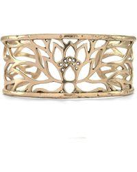 House of Alaia - Lotus Cuff Bracelet In Bronze - Lyst