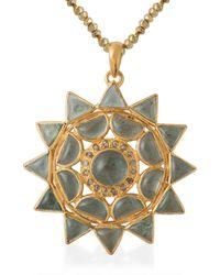 Emma Chapman Jewels Lakshmi Aquamarine Pendant - Multicolour