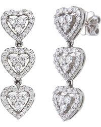 Aara Designer Jewelry | Queen Of Hearts Diamond Earrings | Lyst