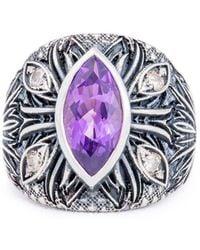 Katherine LeGrand Custom Goldsmith - Sterling Silver & Amethyst A'donna Ring | Katherine Legrand - Lyst