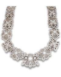Katherine LeGrand Custom Goldsmith - Diamond Lace Necklace - Lyst
