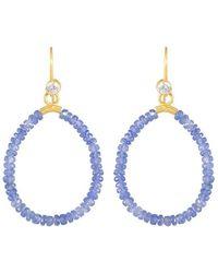juniimjuli - Gold & Sapphire Azur Drop Earrings | - Lyst