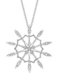 London Road Jewellery Portobello White Gold Diamond Velvet Leaf Large Pendant