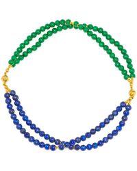 Regenz - Transformer Lapis Lazuli And Jade Bracelet-necklace - Lyst