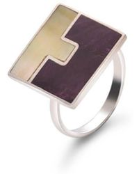 SOLUNA - Sterling Silver Mosaic Duality Ring - Lyst