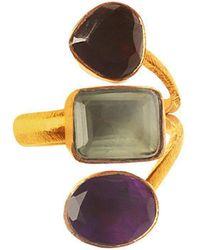 Isla - Jewel Three Stones Ring Prehnite - Lyst