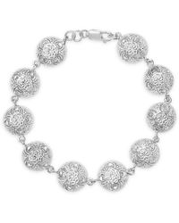 Lily Blanche Sterling Silver Memory Keeper Bracelet - Metallic