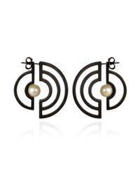 Cara Tonkin - Oxidised Silver Orbit Solaris Earrings - Lyst
