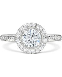Becky Rowe Palladium & Diamond Halo Engagement Ring | - Multicolor