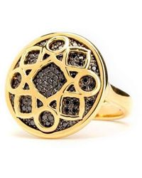 Syna - 18kt Mogul Ring With Black Diamonds - Lyst
