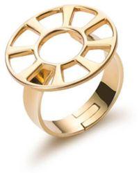 SOLUNA 18kt Yellow Gold Sun Rising Rays Ring - Metallic