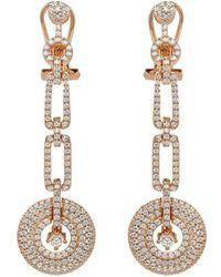 Lustre of London - Rose Art Deco Drop Earrings - Lyst