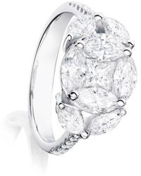 Ortaea Fine Jewellery 18kt White Gold Eternum Engagement Ring With Diamonds Ll
