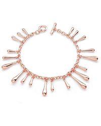 Lucy Quartermaine Multi Drop Bracelet Rose Gold Plated - Multicolour