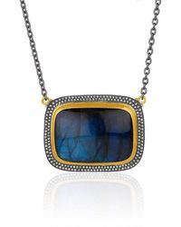 "Lika Behar Collection - Gold And Oxidised Silver Larger ""nightfall"" Necklace - Lyst"
