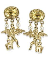 Vintouch Italy - Cherubini Yellow Topaz Earrings - Lyst
