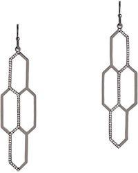 Bridget King Jewelry - Diamond Honeycomb Earrings In Black - Lyst